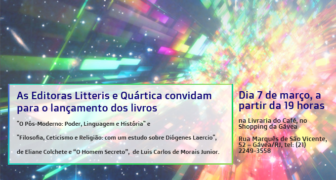 convite para o lançamento dos livros de Eliane Colchete e Luis Carlos
